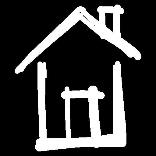 picto maison blanc